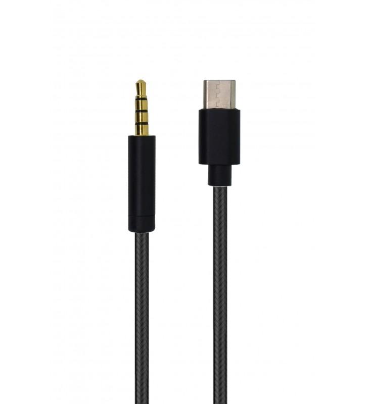 Καλώδιο Σύνδεσης Κορδόνι Ancus USB Type-C σε 3.5 mm Αρσενικό Μαύρο (24398)