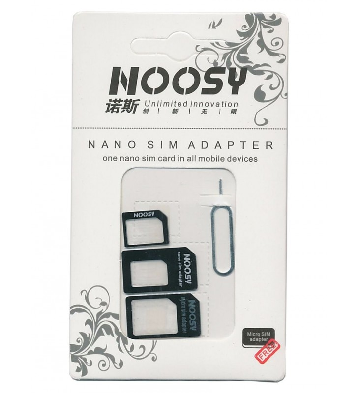 Nano SIM & Micro SIM Adapter Set, μαύρο - NOOSY (SIM-001)