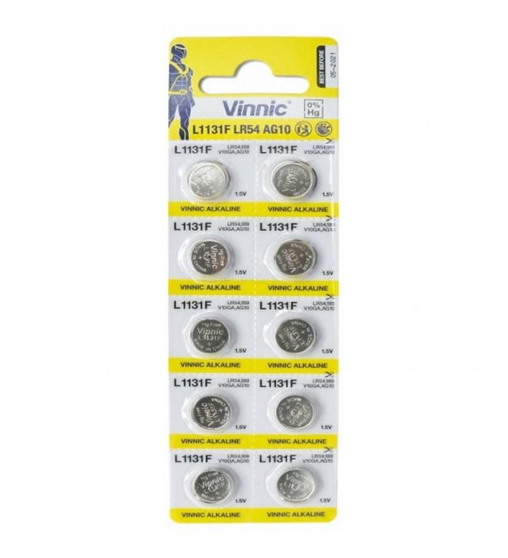 ΜΠΑΤΑΡΙΑ ΛΙΘΙΟΥ Buttoncell Vinnic LR1131 LR54 389 390 AG10 (Τιμή 1 τμχ.)