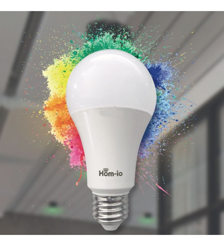 HOM-IO SMART ΛΑΜΠΑ LED WIFI 10W RGB E27 1050LM-RGB W2700K - SMART64361