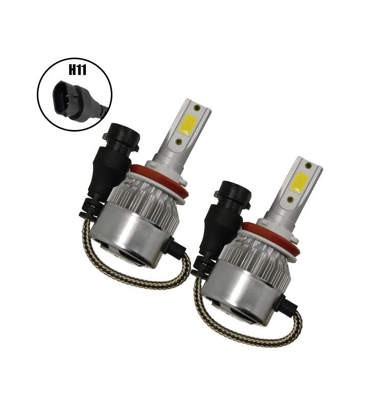 LED HID Kit H11 36 Watt 8-48 Volt DC 3800 Lumen 6000k C6 Economy Line GloboStar 06665