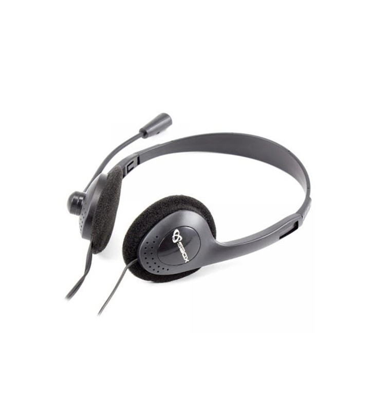 Ακουστικά Κεφαλής SBOX STEREO HEADSET 3,5MM JACK WITH MIC - SBOX (HS-201)