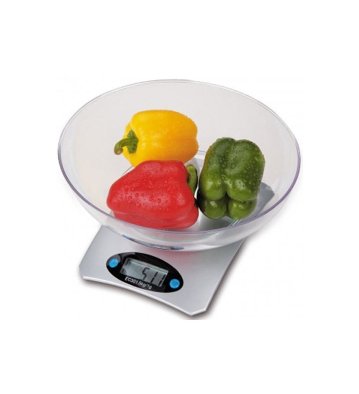 OMEGA KITCHEN SCALE SILVER WITH BOWL - OMEGA (OM43439)