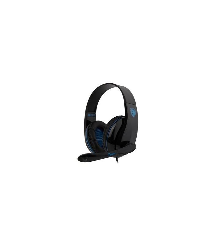 Ακουστικά Κεφαλής Gaming headset Tpower με 40mm ακουστικά, Blue - SADES (SA-701BL)