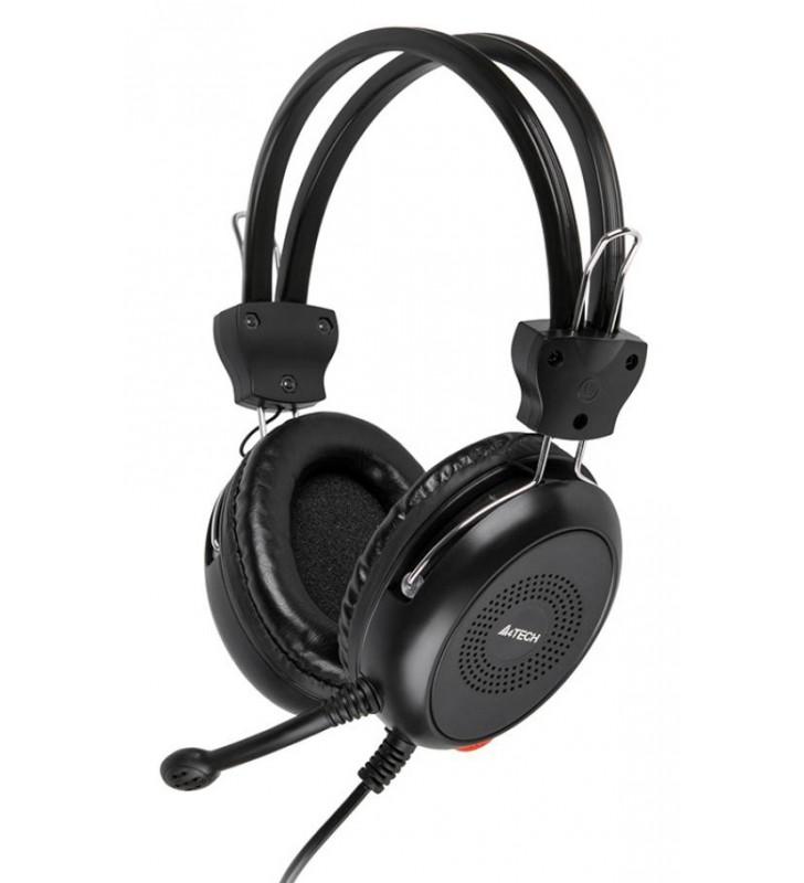 Ακουστικά Κεφαλής HS-30, 3.5mm, 40mm ακουστικά, μαύρα - A4TECH (HS-30)