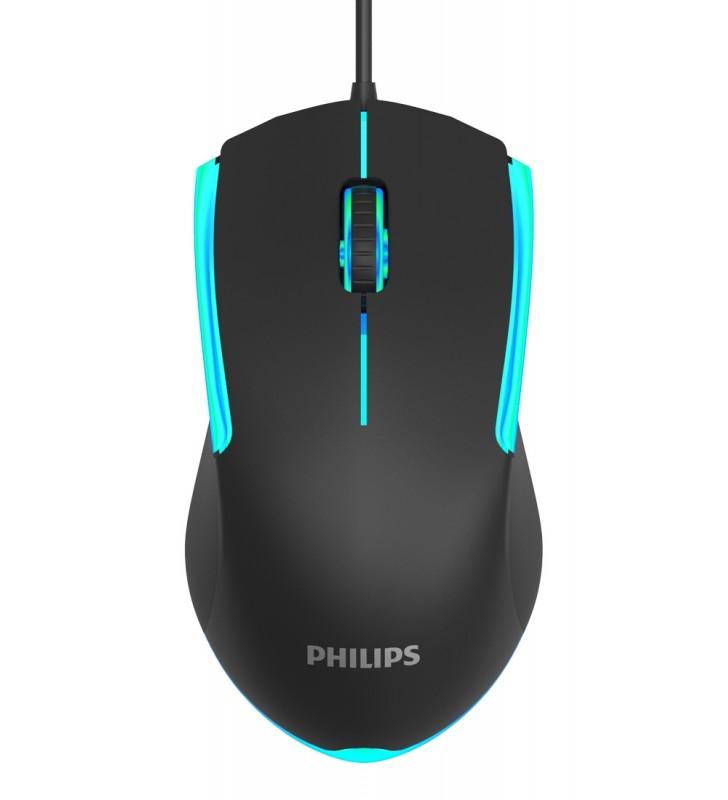 Ενσύρματο ποντίκι, gaming ποντίκι SPK9314, 1200DPI, 3 πλήκτρα, μαύρο - PHILIPS (SPK9314-BK)