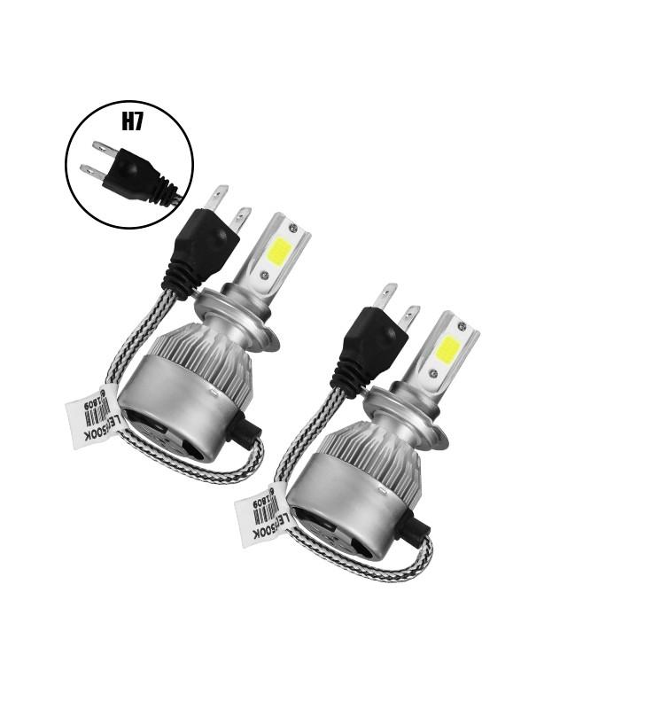 LED HID Kit H7 36 Watt 8-48 Volt DC 3800 Lumen 6000k C6 Economy Line GloboStar 06663