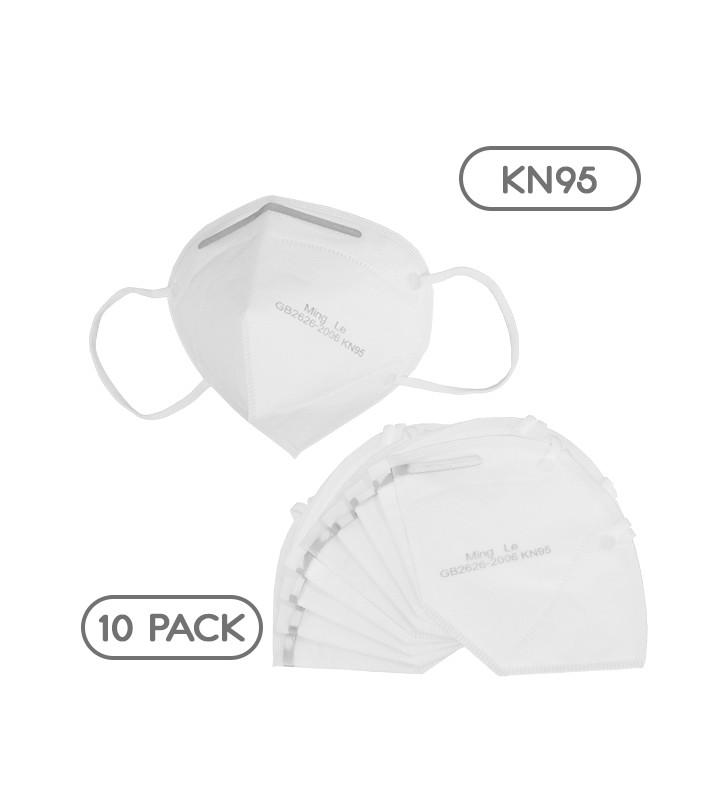 Μάσκα Μίας Χρήσης KN95 - FFP2 GB2626-2006 EN 14683-2019 Πακέτο 10 Τεμαχίων GloboStar 777774