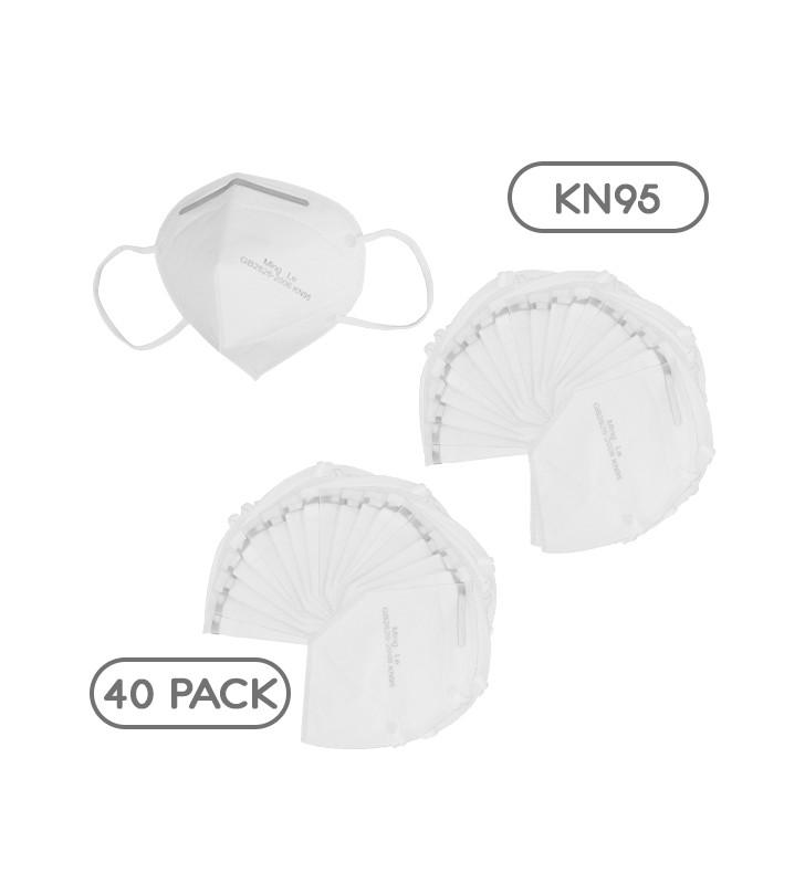 Μάσκα Μίας Χρήσης KN95 - FFP2 GB2626-2006 EN 14683-2019 Πακέτο 40 Τεμαχίων GloboStar 777777