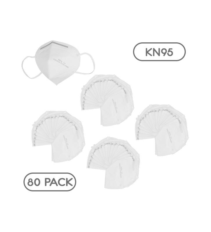 Μάσκα Μίας Χρήσης KN95 - FFP2 GB2626-2006 EN 14683-2019 Πακέτο 80 Τεμαχίων GloboStar 777778