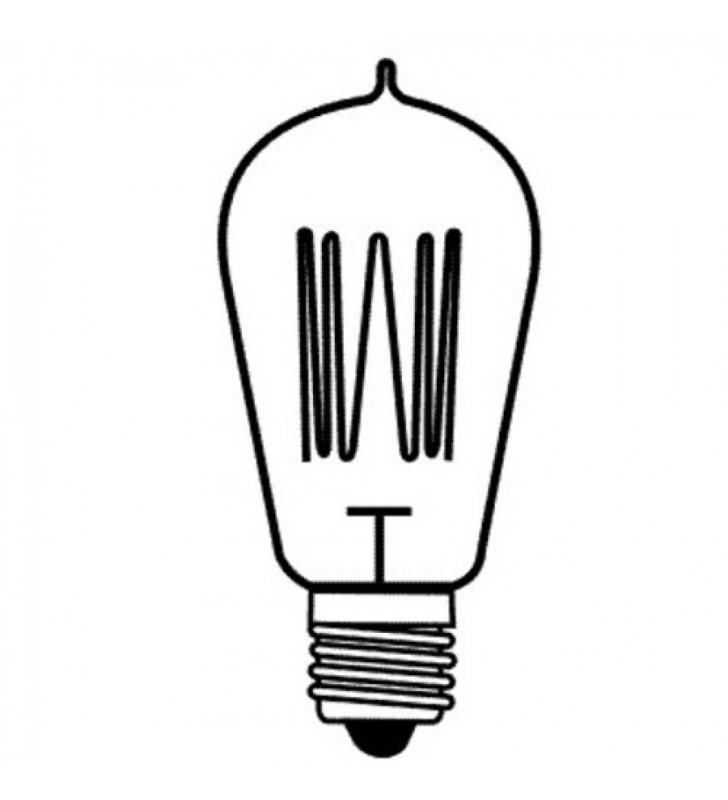 Λάμπα Edison Vintage St64 60W Ε27 2200k 240lm - EnjoySimplicity (EL306401)