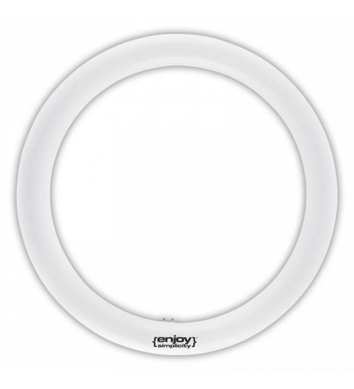 Λάμπα LED T9 ΚΥΚΛΙΚΗ G10q 20w (120W) 6500k 1800lm Φ400mm - ΕnjoySimplicity (EL609206)
