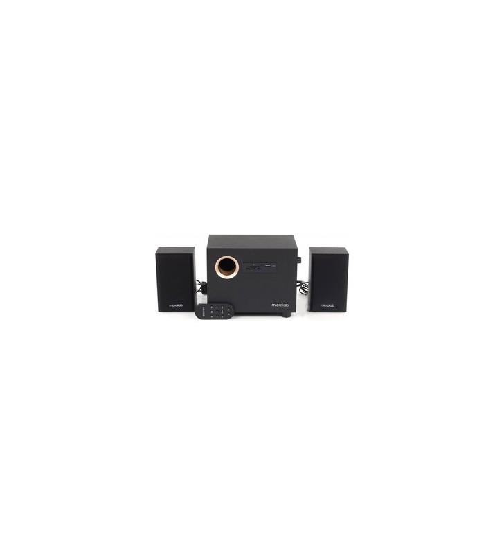 Ηχεία M-105R 2.1ch, 5W & 2x 2.5W USB/SD Card/3.5mm/FM μαύρα - MICROLAB (M-105R-BK)