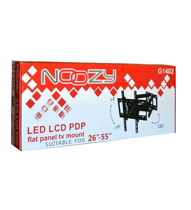 Βάση Στήριξης TV Noozy G1402 για Τηλεοράσεις 26'' - 55'' ΜΕ ΔΙΠΛΟ ΒΡΑΧΙΩΝΑ. αντοχή βάρους εως 50kg