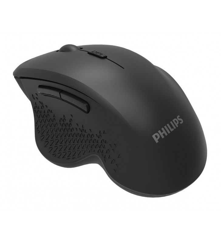PHILIPS ασύρματο ποντίκι SPK7624, 1600DPI, 6 πλήκτρα, μαύρο - PHILIPS (spk7624)