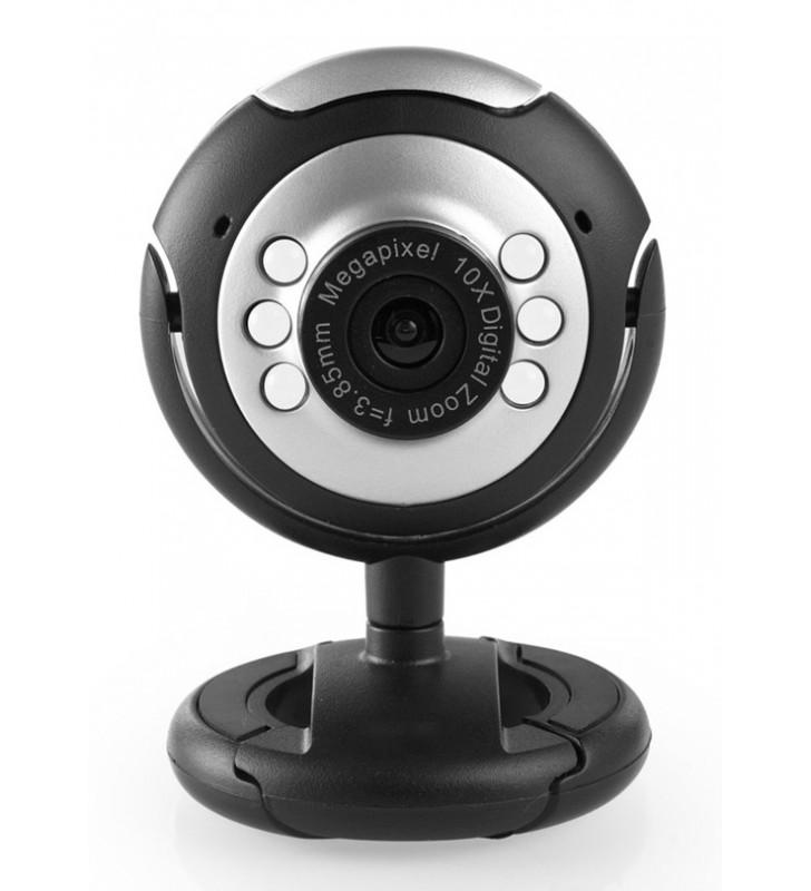 Web Camera CAM01, 0.3MP, 30fps, Plug & Play, μαύρη - UNBRANDED (CAM01)