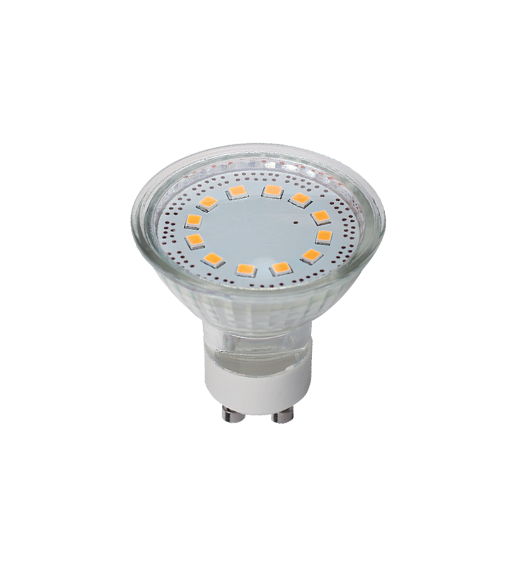 LED SPOT GU10 3watt 3000k LED SMD 120o ELM
