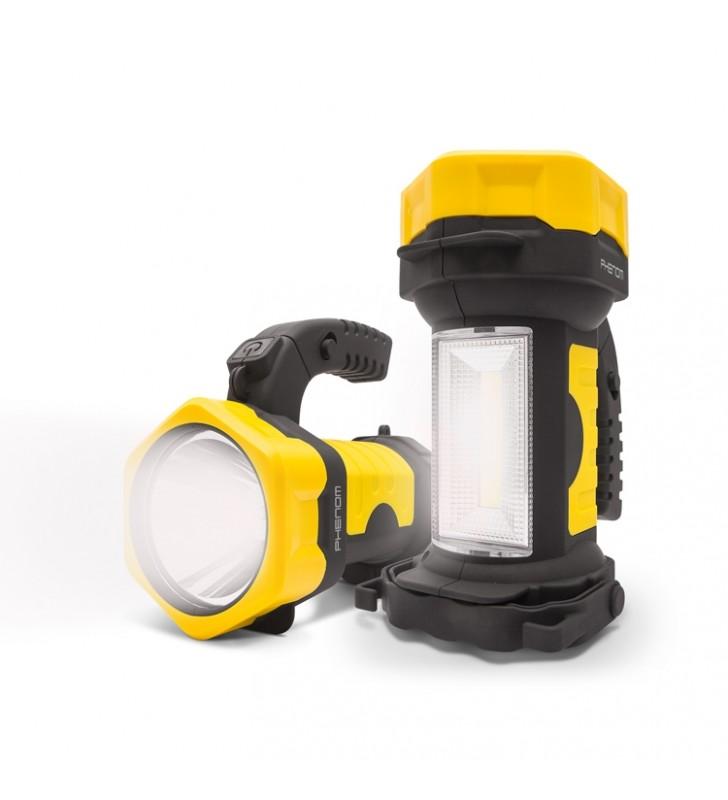 ΦΑΚΟΣ ΕΡΓΑΣΙΑΣ ΧΕΙΡΟΣ LED (2 σε 1) 275Lm + 100Lm, ΣΠΑΣΤΟΣ - PHENOM 18636