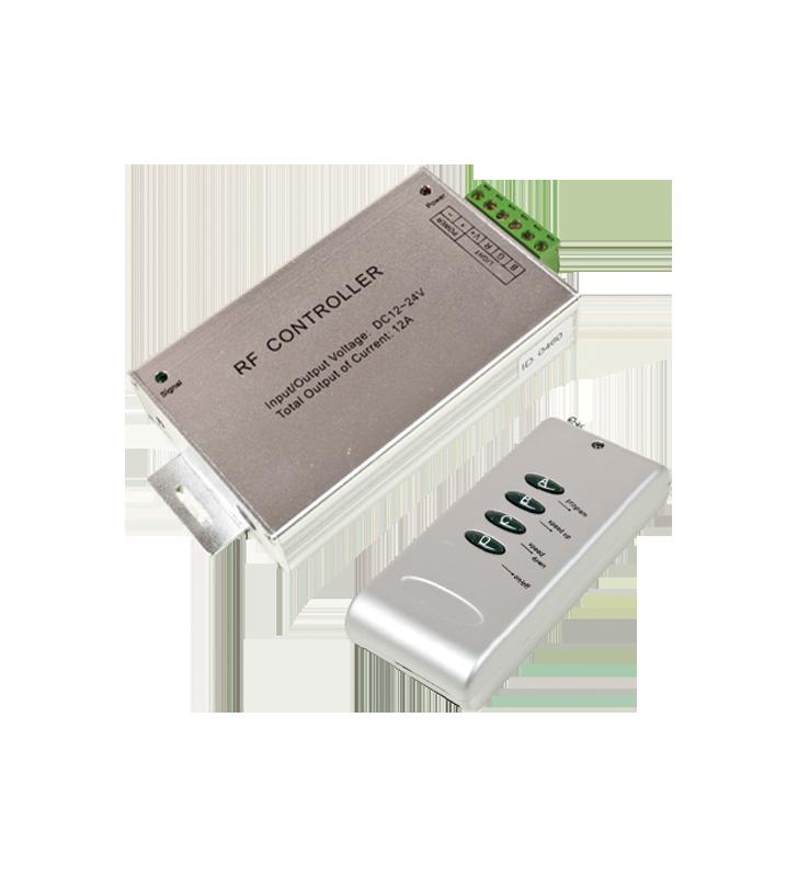 CONTROLLER LED RGB ΑΣΥΡΜΑΤΟ RF 4 ΚΟΥΜΠΙΑ ΜΕ Dimmer