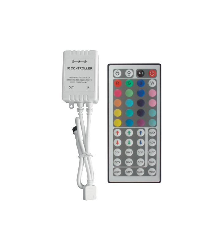 CONTROLLER LED RGB ΜΕ DIMMER 44 KEY 72 WATT