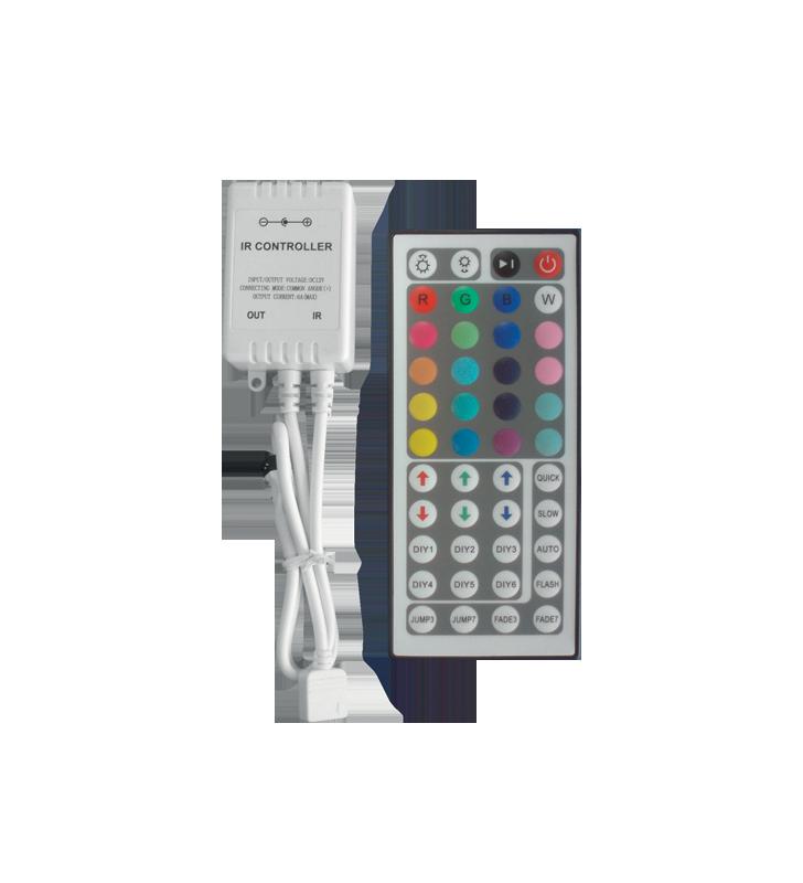 CONTROLLER LED RGB ΜΕ DIMMER 44 KEY 72 WATT