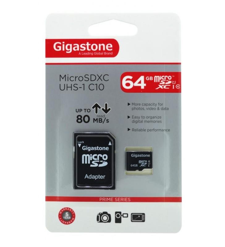 Κάρτα Μνήμης Gigastone MicroSDXC UHS-1 64GB C10 Professional Series με SD Αντάπτορα