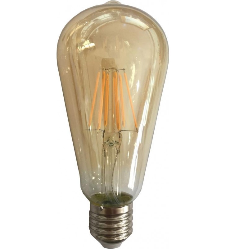 ΛΑΜΠΑ LED EDISON ST64 FILAMENT 10W E27 2500K 220-240V GOLD DIMMABLE - EUROLAMP (147-80930)
