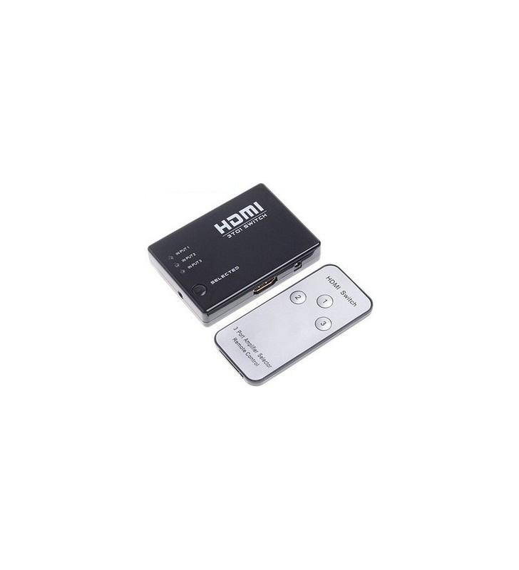 HDMI Switcher 3 Εισόδων - 1 Εξόδου με τηλεχειριστήριο, - FTT14-018