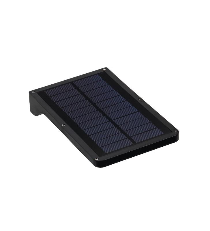Αυτόνομο Αδιάβρ. IP65 Ηλιακό Φωτοβ/κό Φωτι/κό LED Μαύρο, Ανιχν. Κίνησης 6000k GloboStar 07003