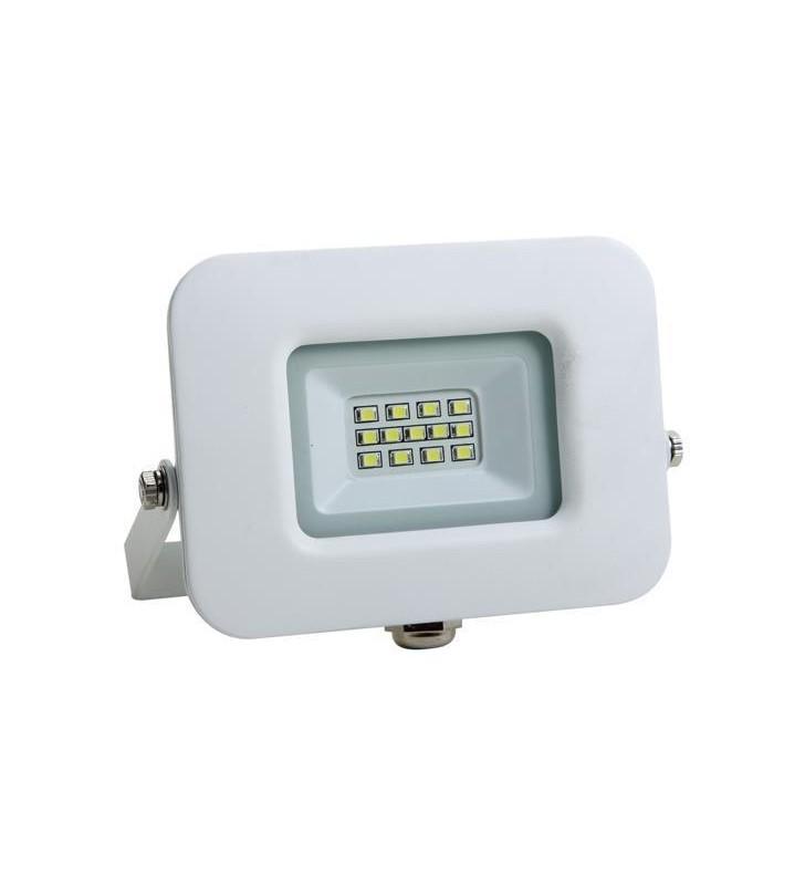 ΠΡΟΒΟΛΕΑΣ LED SMD ΒΑΣΗ 360° 10W ΛΕΥΚΟΣ IP65 6500K PLUS - EUROLAMP (147-69310)