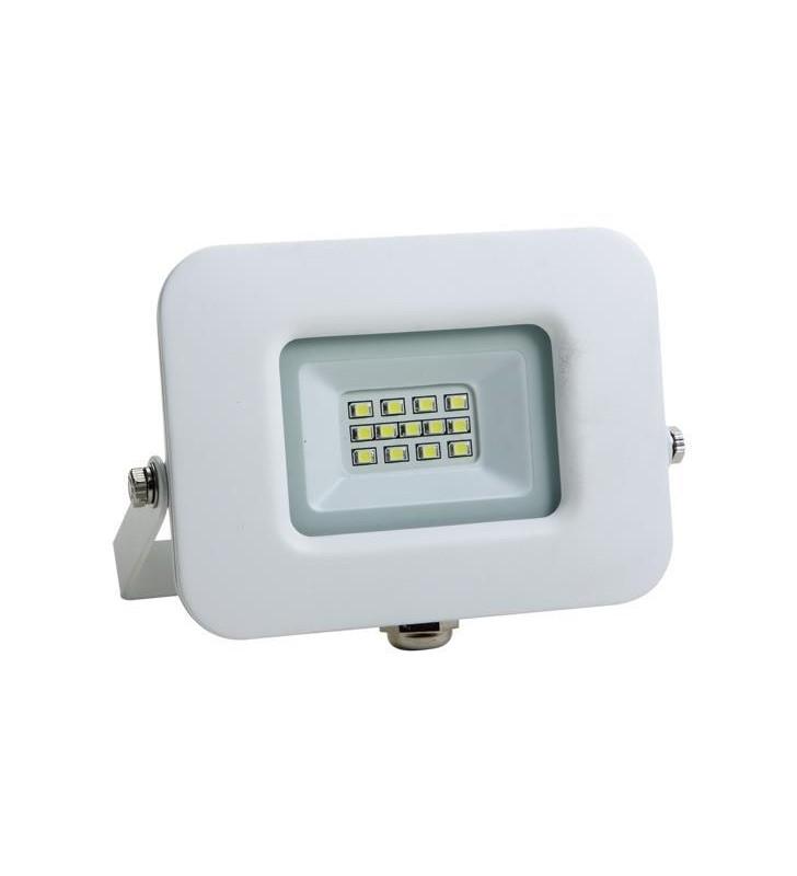 ΠΡΟΒΟΛΕΑΣ LED SMD ΒΑΣΗ 360° 10W ΛΕΥΚΟΣ IP65 4000K PLUS - EUROLAMP (147-69311)
