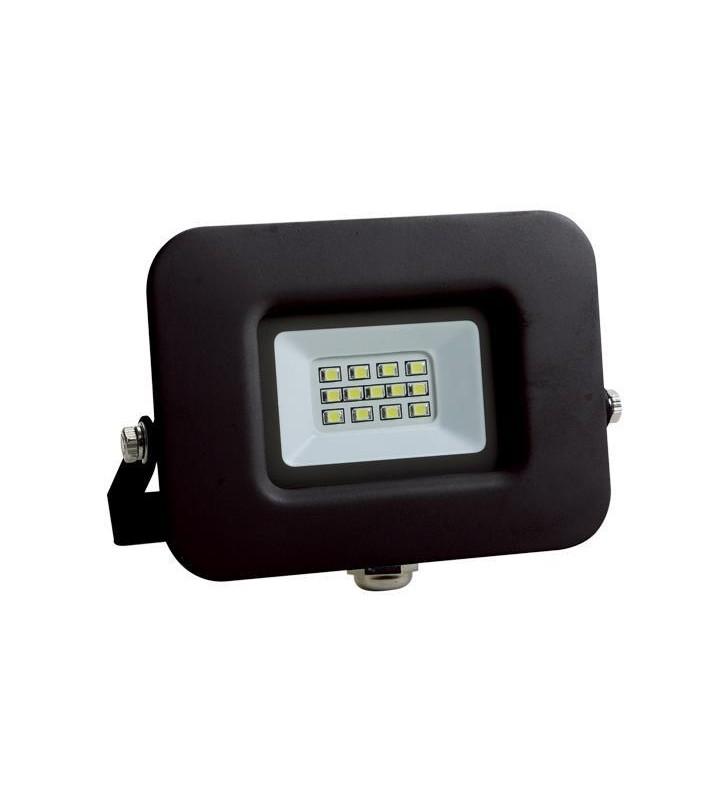 ΠΡΟΒΟΛΕΑΣ LED SMD ΒΑΣΗ 360° 10W ΜΑΥΡΟΣ IP65 6500K PLUS - EUROLAMP (147-69313)