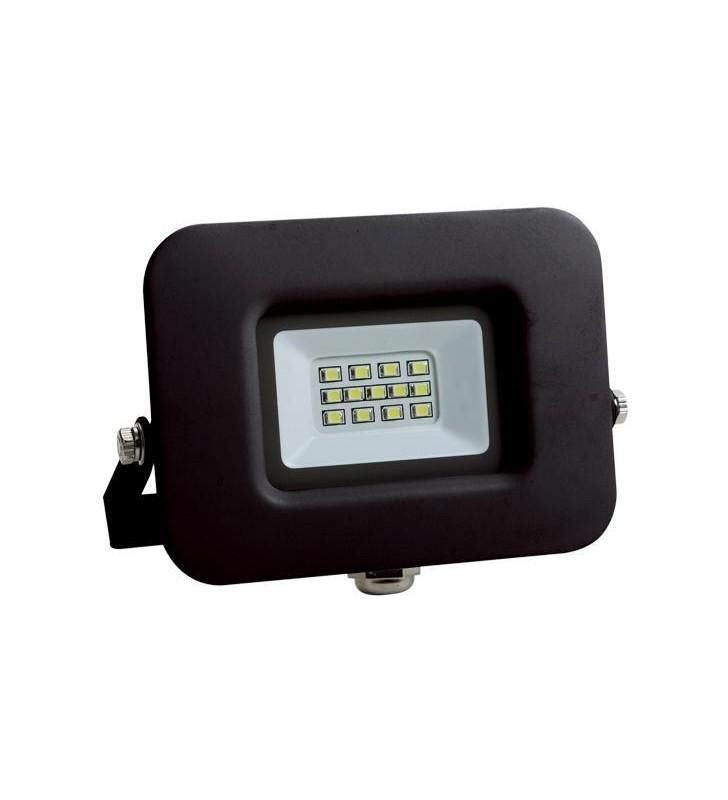 ΠΡΟΒΟΛΕΑΣ LED SMD ΒΑΣΗ 360° 10W ΜΑΥΡΟΣ IP65 4000K PLUS - EUROLAMP (147-69314)