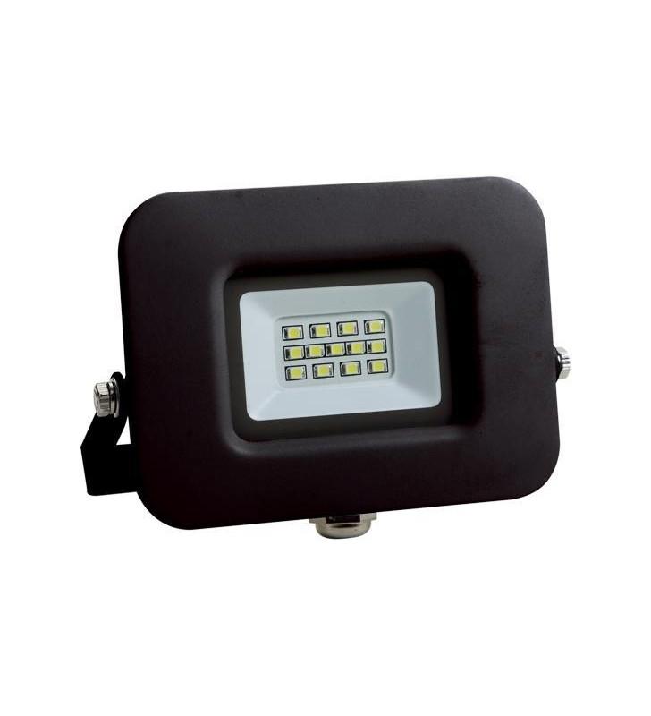 ΠΡΟΒΟΛΕΑΣ LED SMD ΒΑΣΗ 360° 10W ΜΑΥΡΟΣ IP65 3000K PLUS - EUROLAMP (147-69315)
