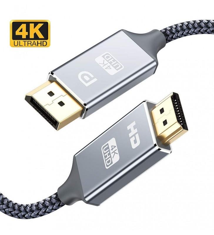 Καλώδιο DisplayPort (M) σε HDMI(M), 4K, PS8402A, copper, 5m - POWERTECH (CAB-DP033)