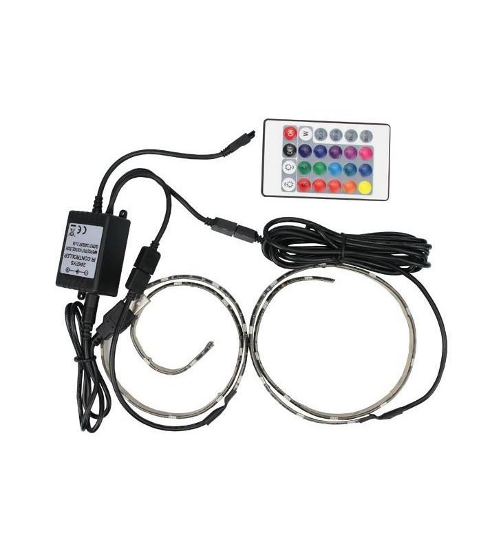 ΤΑΙΝΙΑ LED DIMMABLE ΜΕ ΣΥΝΔΕΣΗ USB 0,50M 7,2W 5V RGB IP65 ΣΕΤ 2τμχ PRO - EUROLAMP (145-70025)
